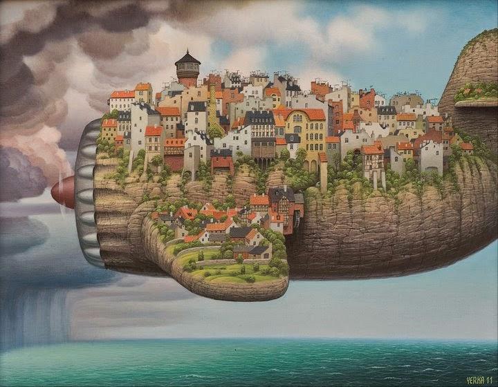 10-Low-cost-air-lines-Jacek-Yerka-Surreal-Paintings-Parallel-Universes-www-designstack-co
