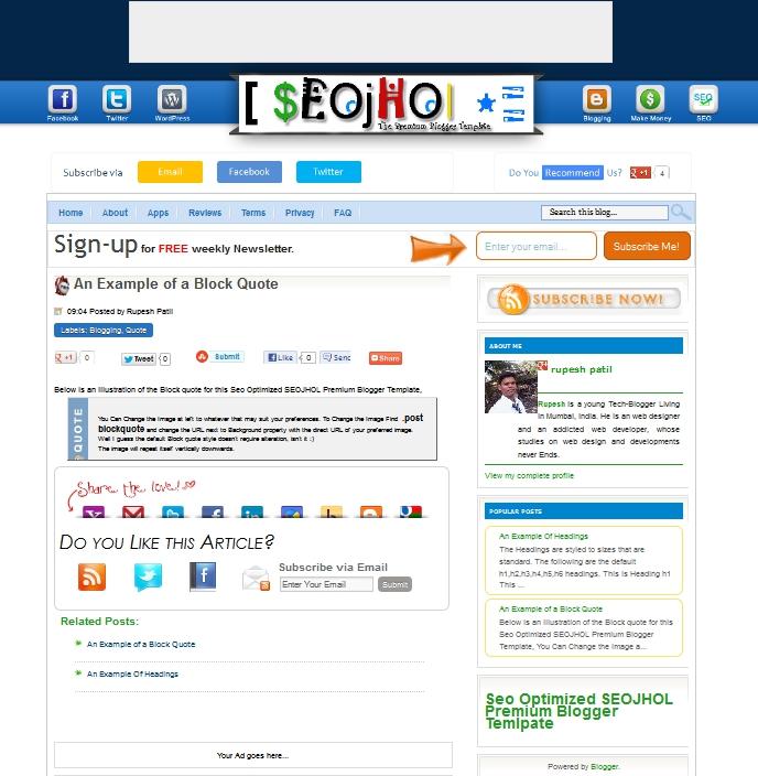 Keeppy :: SEO Friendly Blogger Templates