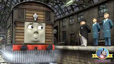 Sir Topham Hatt had an important job for Thomas and friends Toby the tram engine whistling Woods