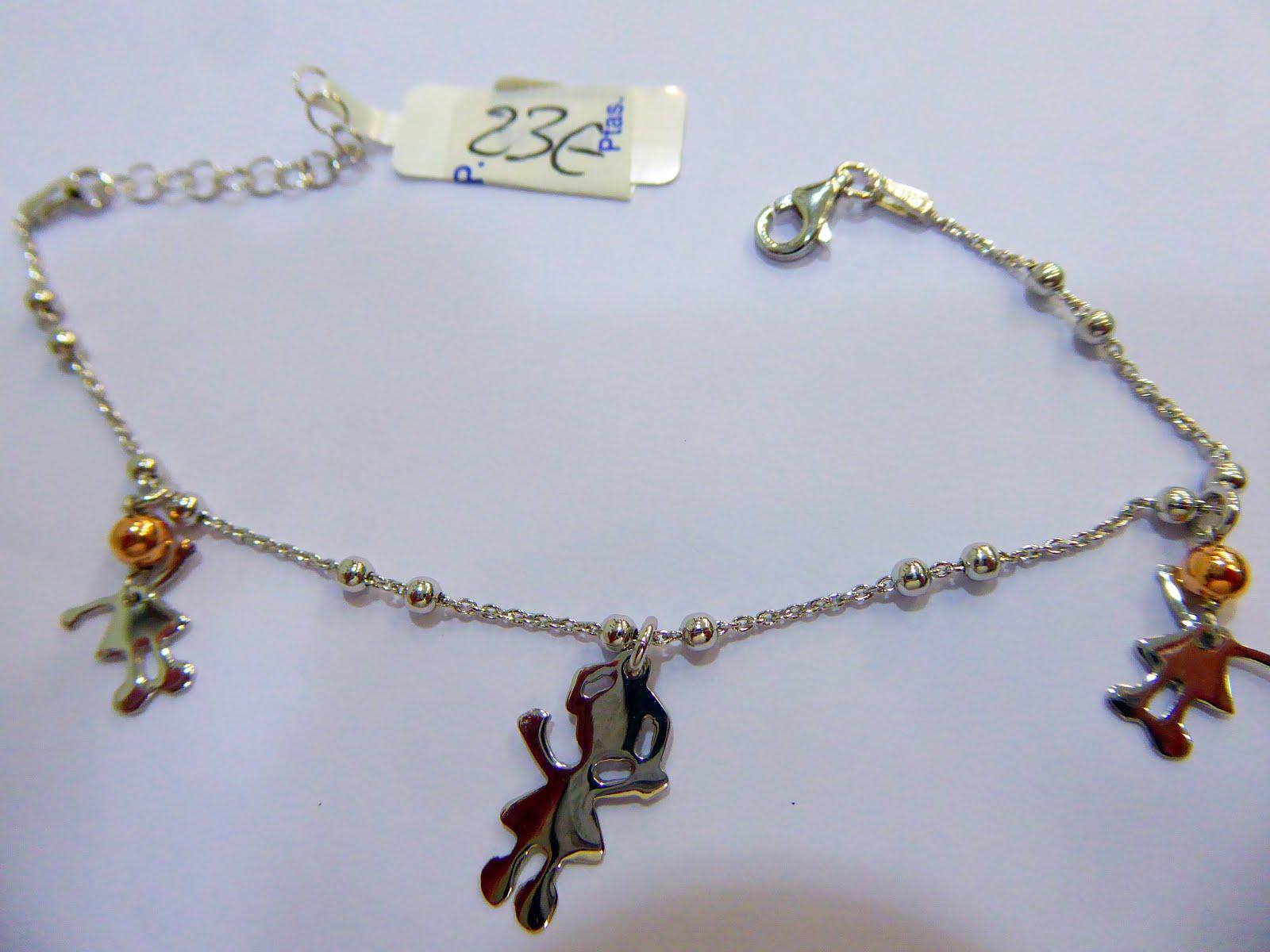 Pulsera de plata con canenes articulados