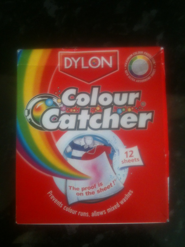 Colour catcher sheets - As There Was A Few New Red Items I Hadnt Washed Yet As Per The Instruction I Added Two Sheets To The Wash