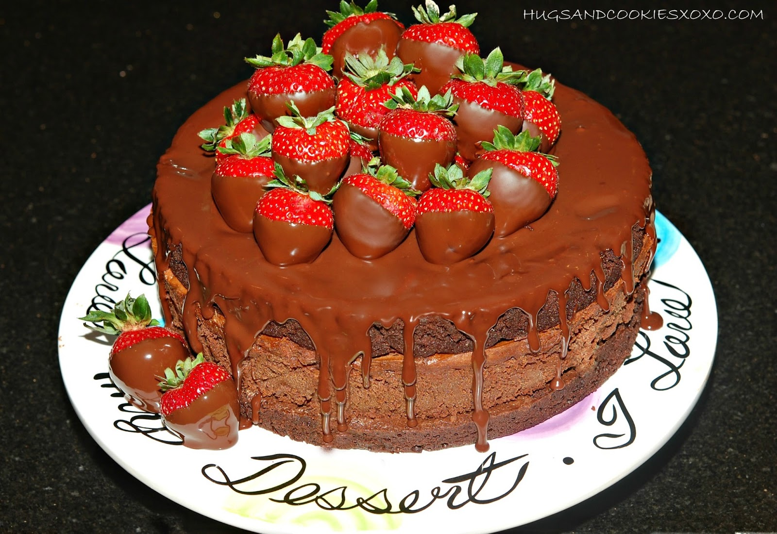 Triple Layer Chocolate Dipped Strawberry Cheesecake Hugs