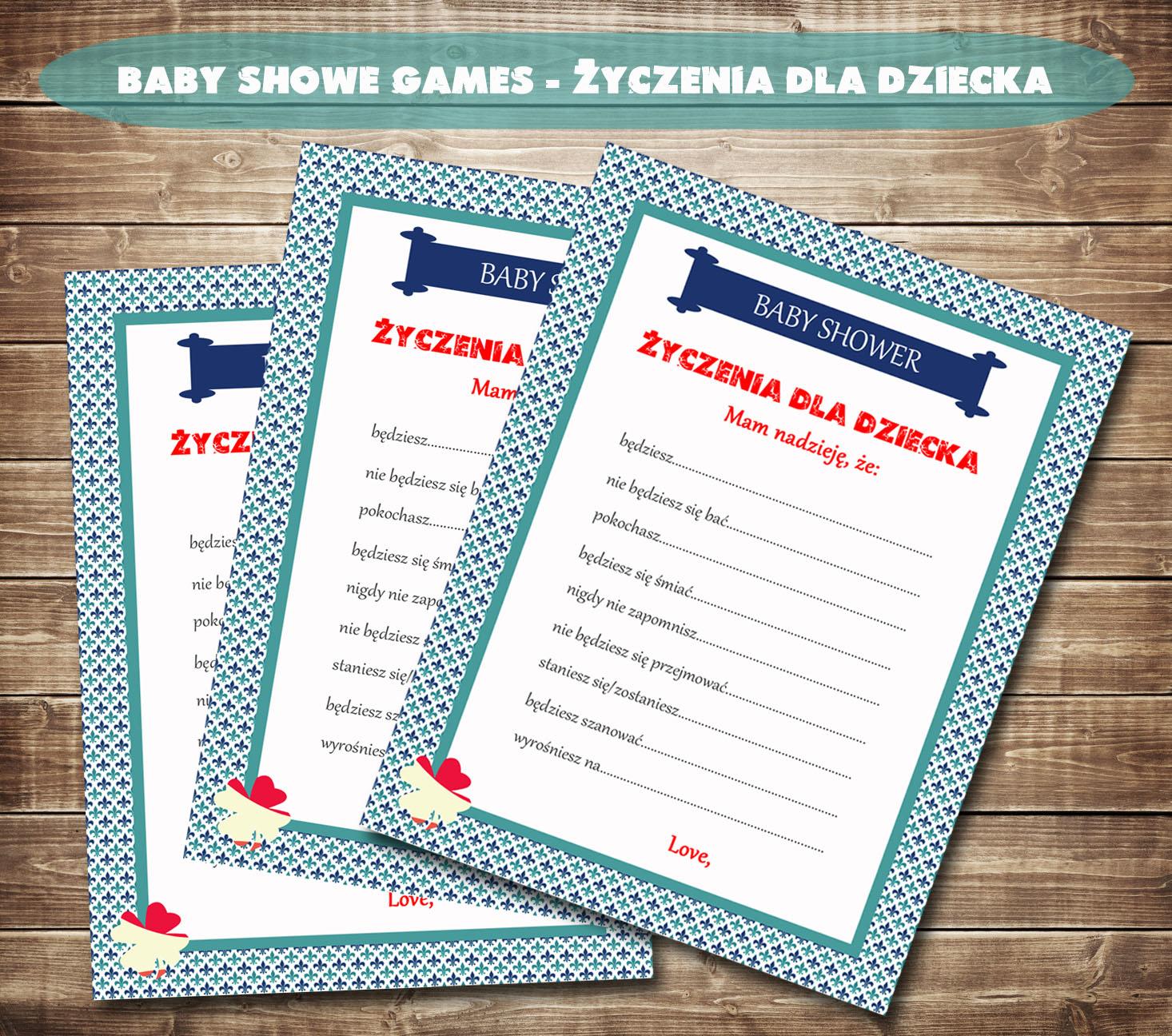 Baby Shower Zyczenia ~ Socute pl inspiracje gra na baby shower yczenia dla
