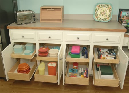 pull-out storage drawers