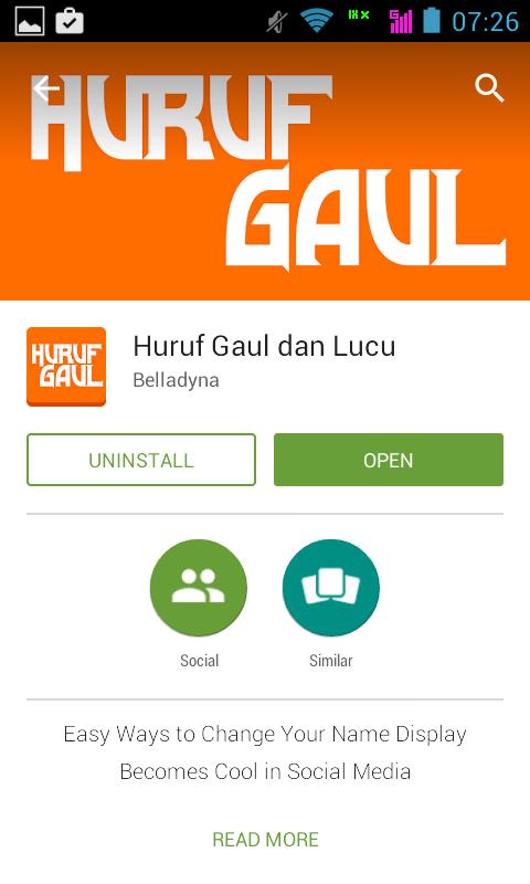 Aplikasi Huruf Gaul Android
