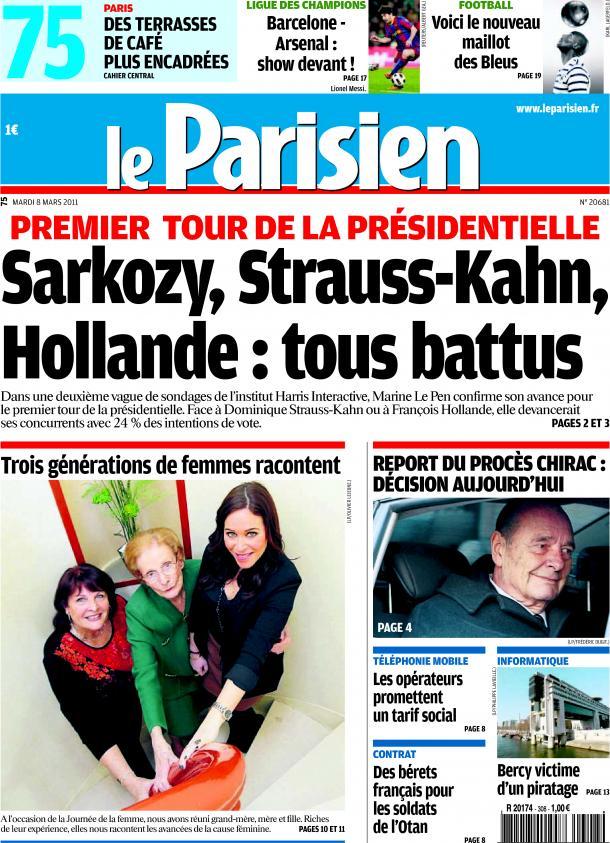 Sondage Le Parisien Le Pen en tête