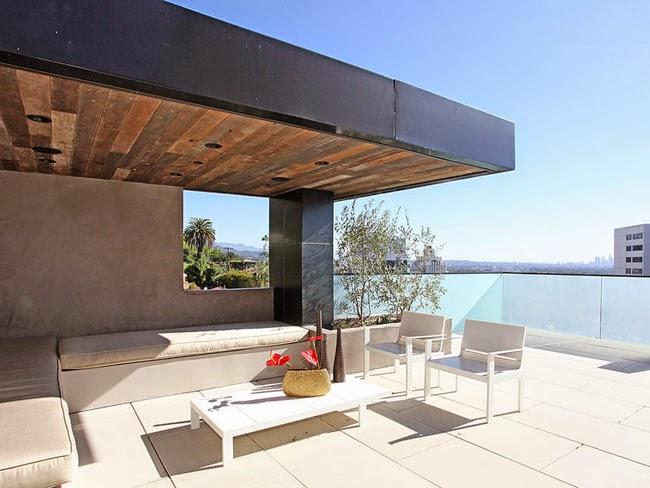 Casas minimalistas y modernas nuevas terrazas modernas for Cubiertas modernas para terrazas