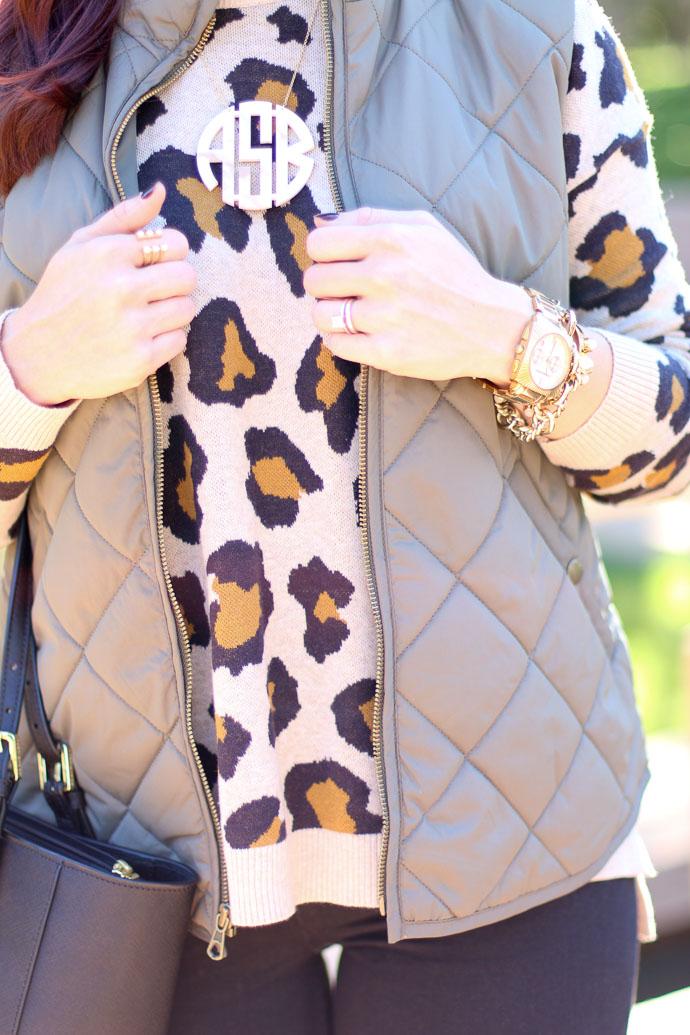 green quilt vest