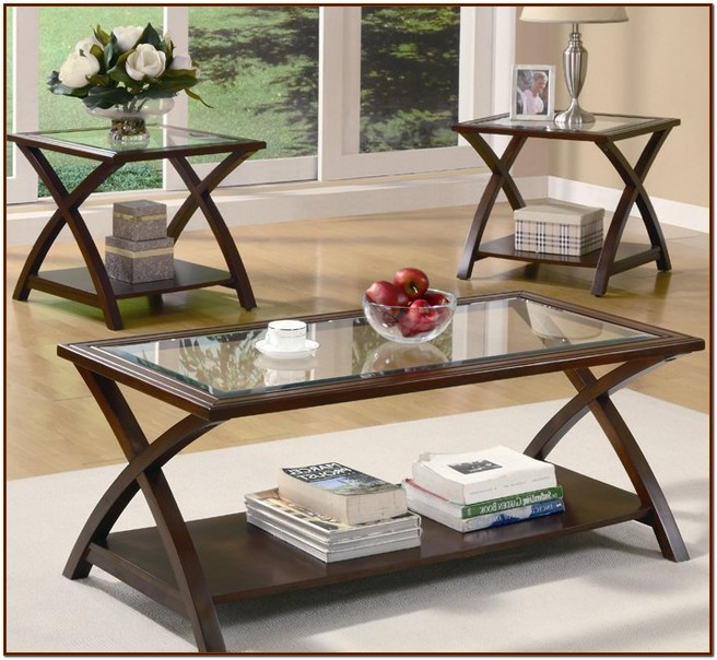 Attrayant Glass Top Coffee Table Set