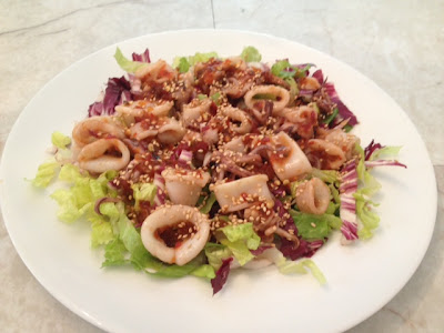 spicy grilled calamari salad recipe