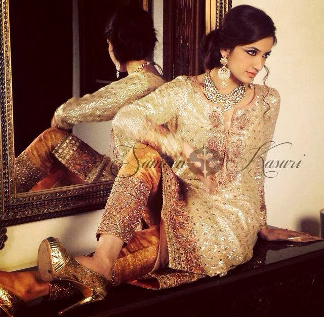 SameenKasuriSemiFormalCollection2014 15 wwwfashionhuntworldblogspotcom 009 - Formal & Semi Formal Wear Dresses By Smeen Kasuri
