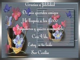 ¡FELICIDADES SOR CECILIA!