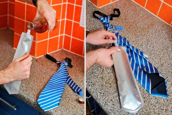 gravata para tomar um suquinho escondido