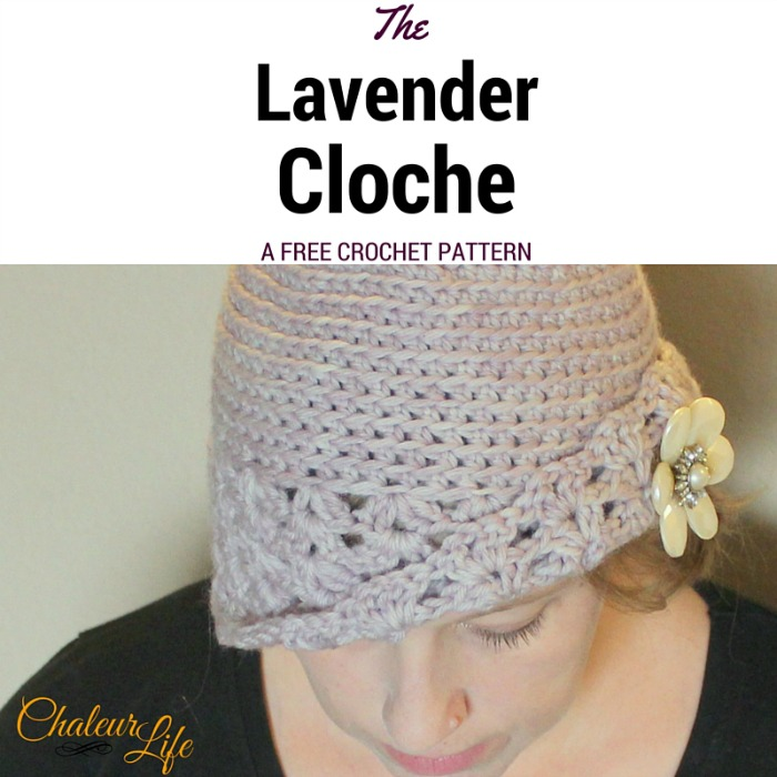 My Hobby Is Crochet  The Lavender Cloche - Free Crochet Pattern ... 973dfc8fd18
