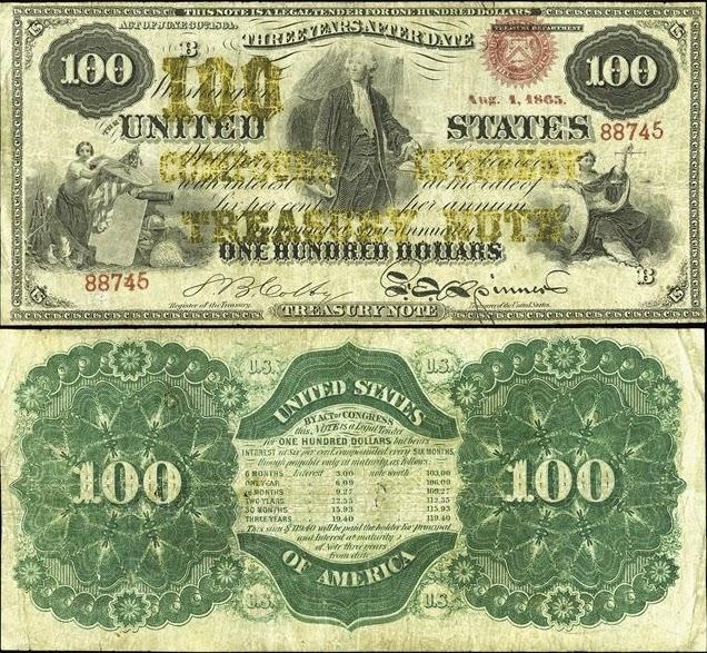 100 долларов США, 1863-1864 год