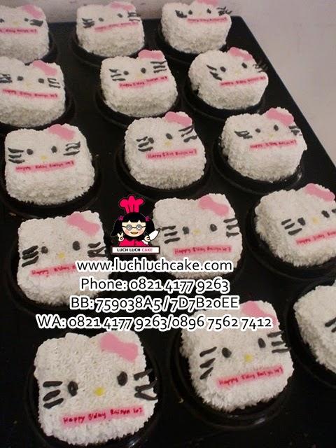 Mini Cake Hello Kitty Pink Daerah Surabaya - Sidoarjo