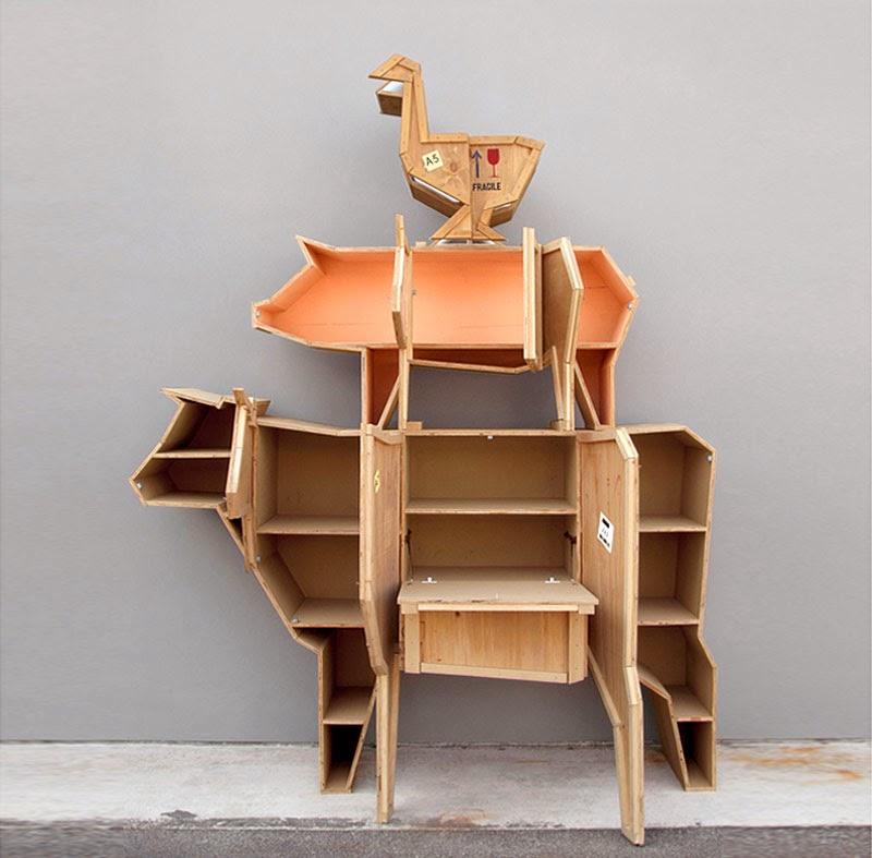 muebles con forma de animales de granja de Marama