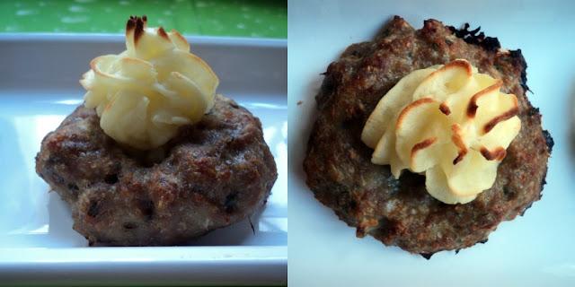 Albóndigas turcas, en el horno y con puré de patatas