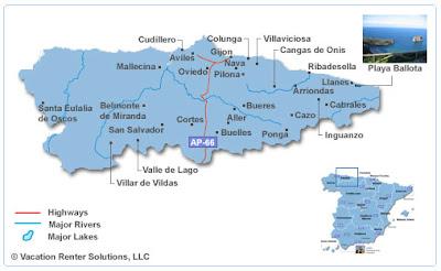 Asturias Map Picture