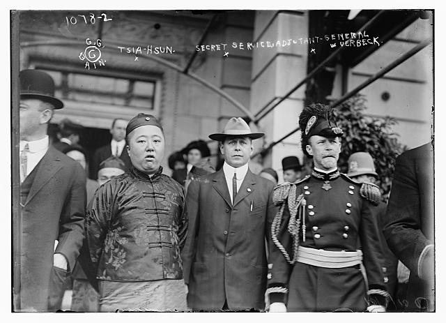 Prince Tsia-Hsun with Secret Service Adjutant Verbeck and others 10/1/10