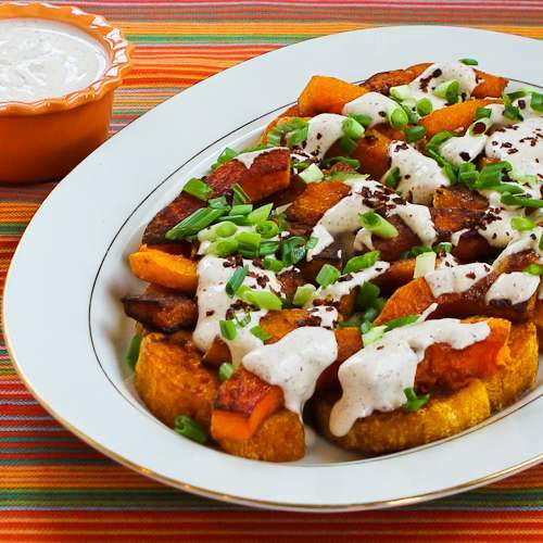 Roasted Butternut Squash Wedges With Tahini-Yogurt Sauce ...