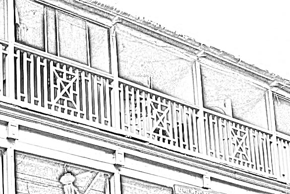 criss-cross simple railing design