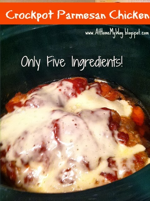 At Home My Way Easy Peasy Parmesan Chicken In The Crockpot Only 5