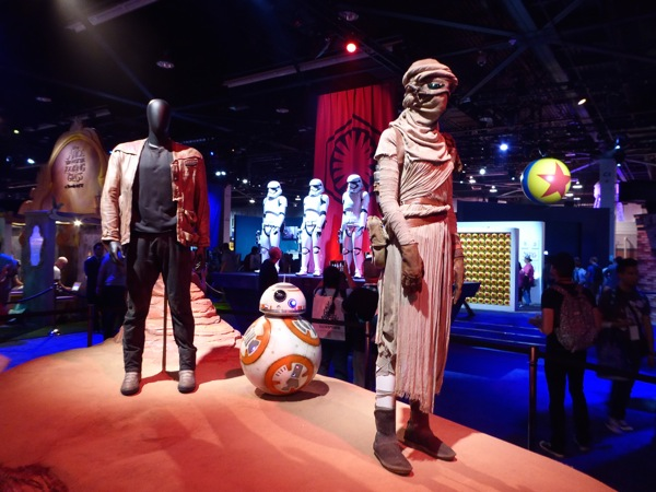 Star Wars Force Awakens movie costumes D23 Expo