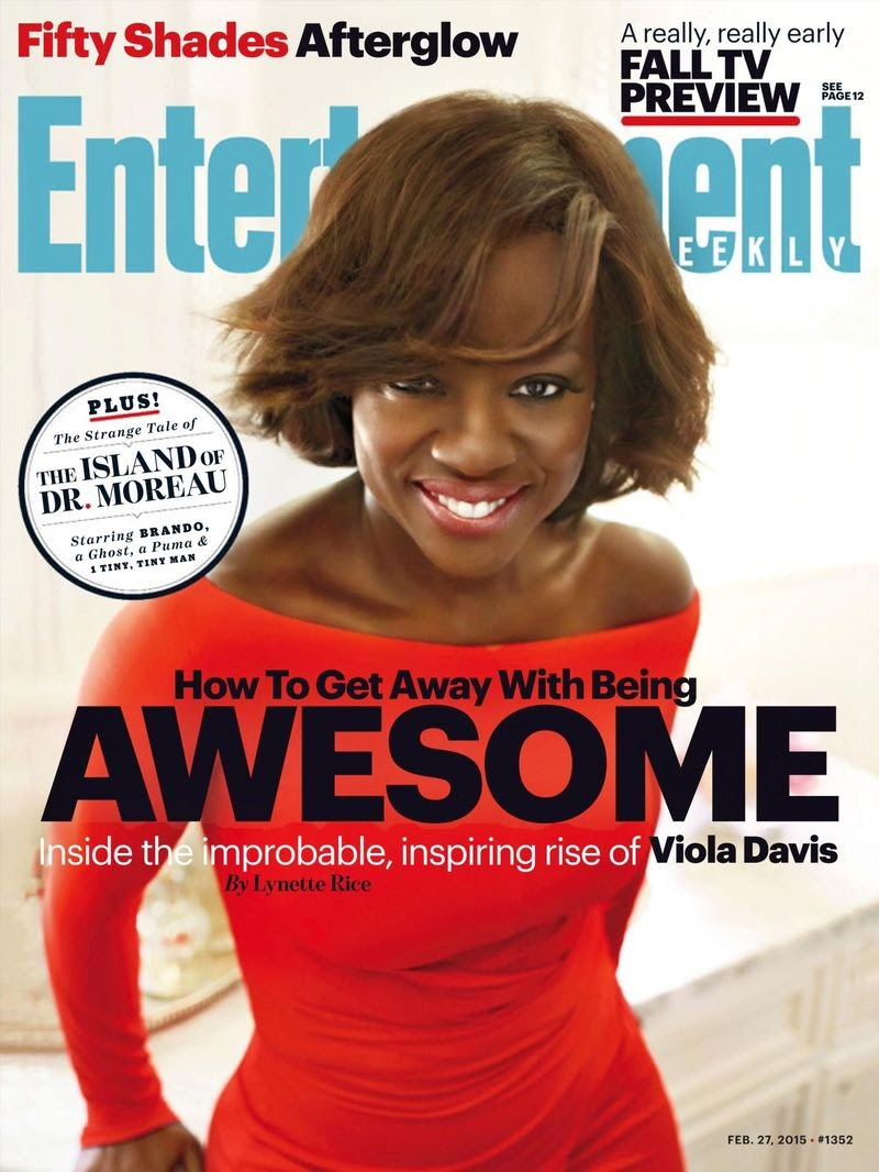 Actress, Soundtrack: Viola Davis - Entertainment Weekly USA February 2015