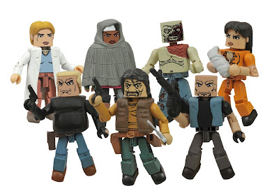 The Walking Dead Minimates Series 4 Action Figures – Gabe, The Governor, Bruce, Alice, Michonne, Shoulder Zombie & Lori with baby Judith