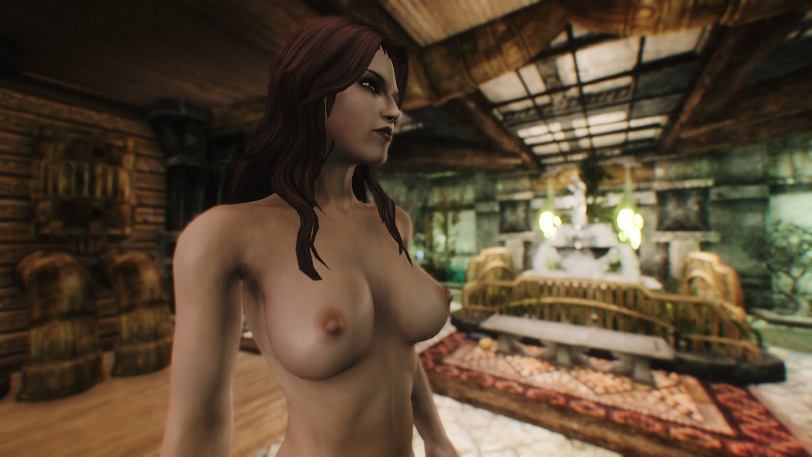Skyrim nude female download pornos video