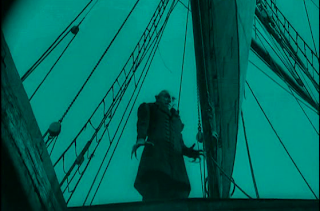 Max Schreck as Count Orlok in Nosferatu, Orlok Walks on Ship's Dock, Directed by F. W. Murnau