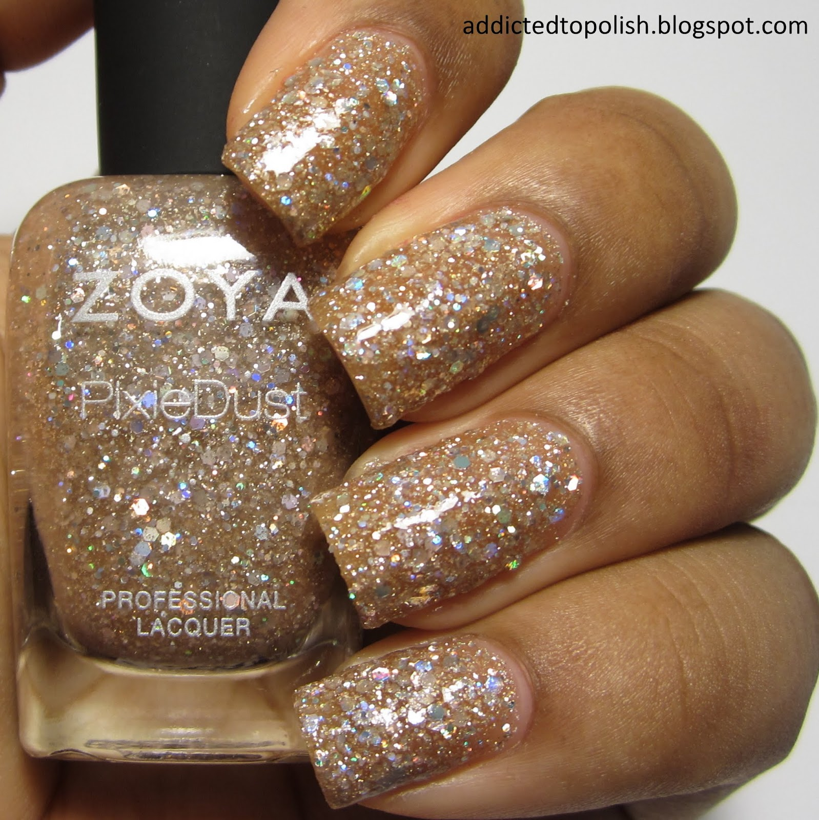 Zoya Bar Magical PixieDust with tocoat