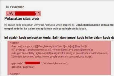 Cara Mudah Mendaftar dan Memasang Kode Google Analytics Universal