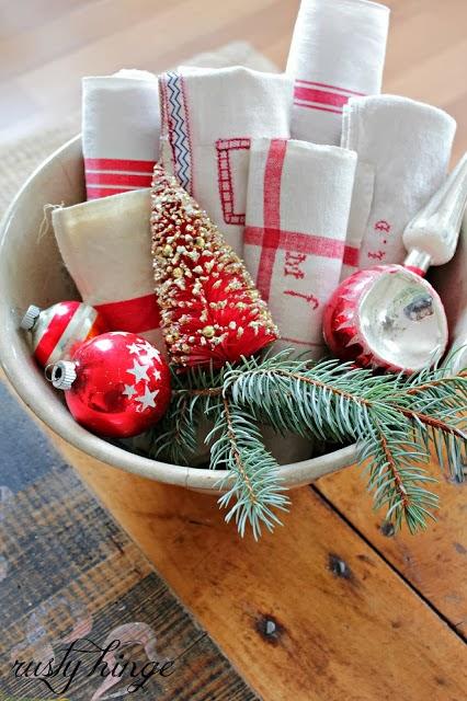 Rojo y blanco en Navidad