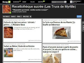 La blogosphère gourmande de Myrtille : recettes sucrées à essayer (sur Scoop.it!)