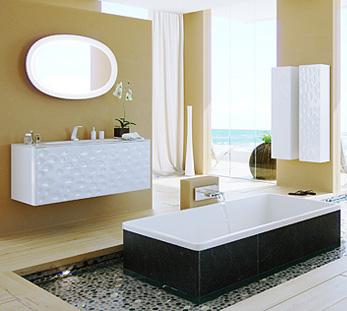 Сантехника на фото: мебель Clarberg Dune 120 для ванной комнаты