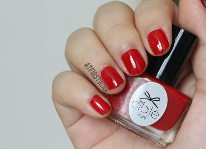 Ciaté mini nail polish PP017 - boudoir (beautiful deep red color)