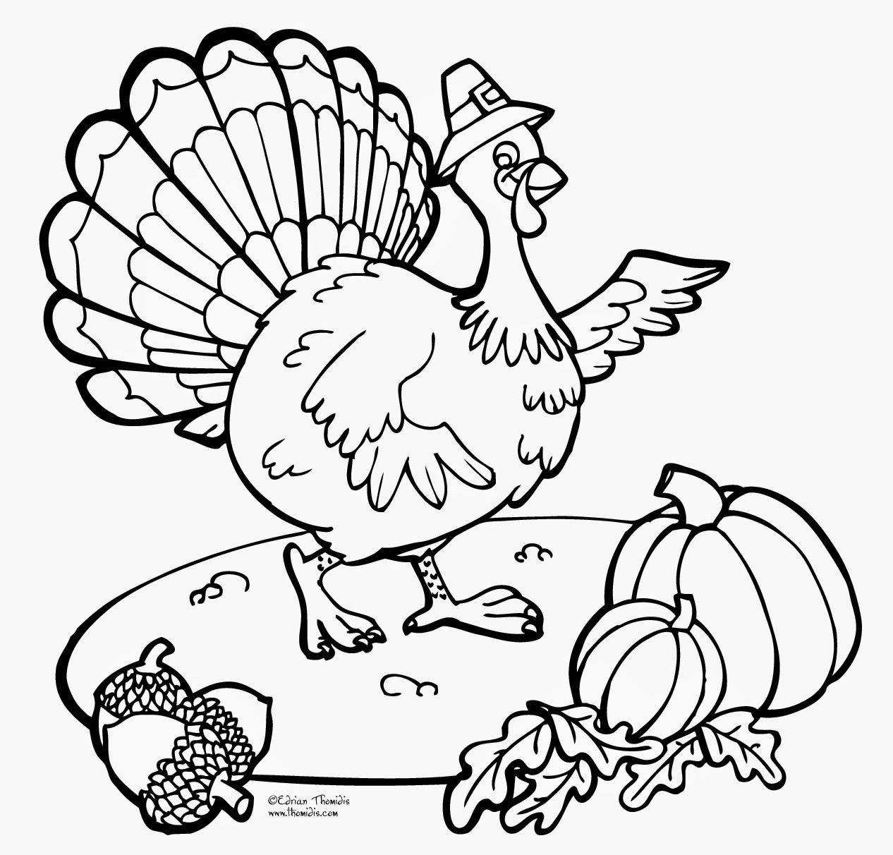Thanksgiving day printable coloring pages minnesota miranda for Thanksgiving coloring pages already colored