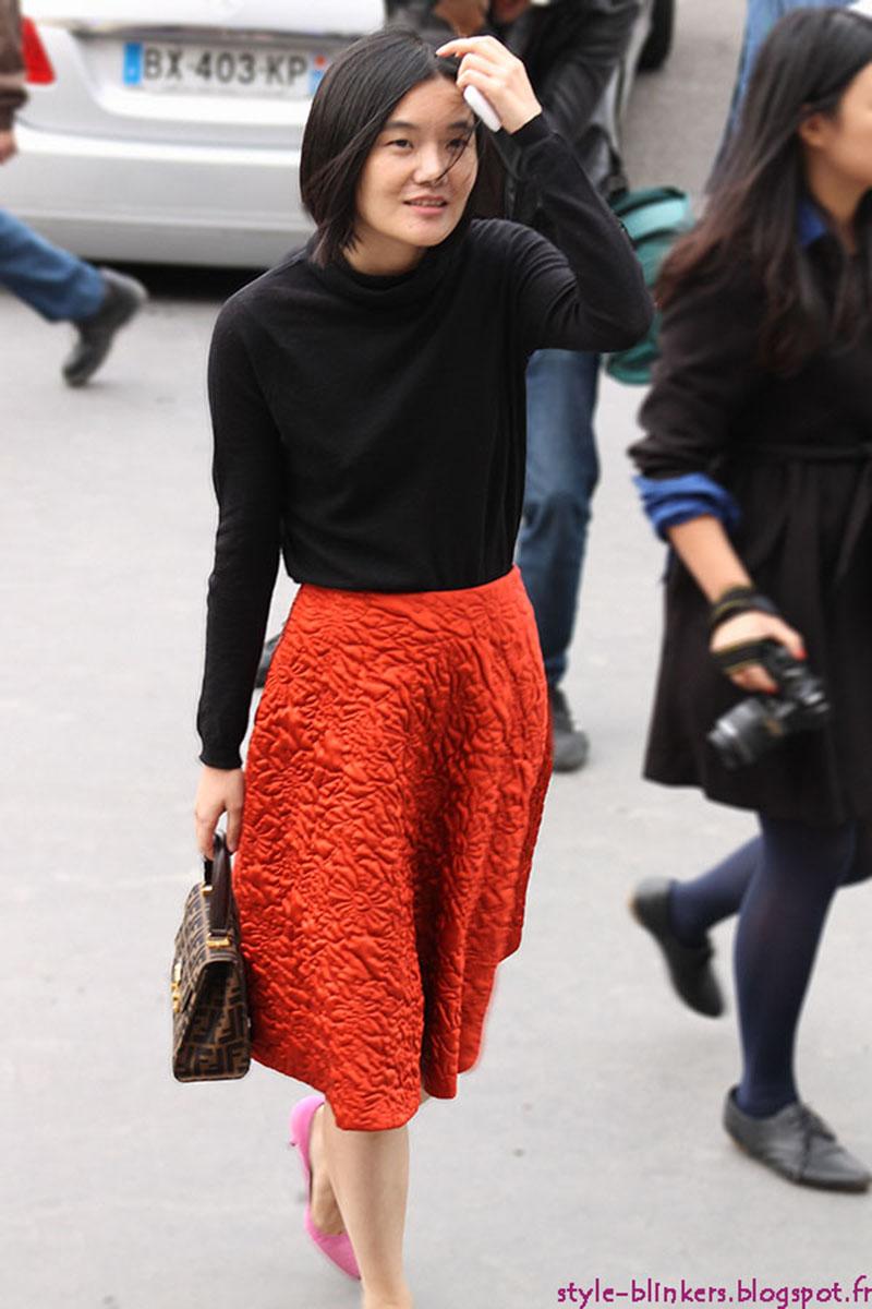 Miao Miao Zheng at Rochas S/S 2013 - Paris Ready to Wear Fashion Week