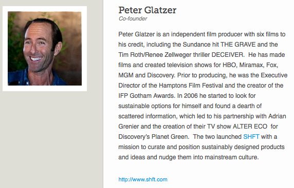 Looking for Green Inspiration?  Get to Know Independent Film Producer and SHFT.com Co-Founder, Peter Glatzer