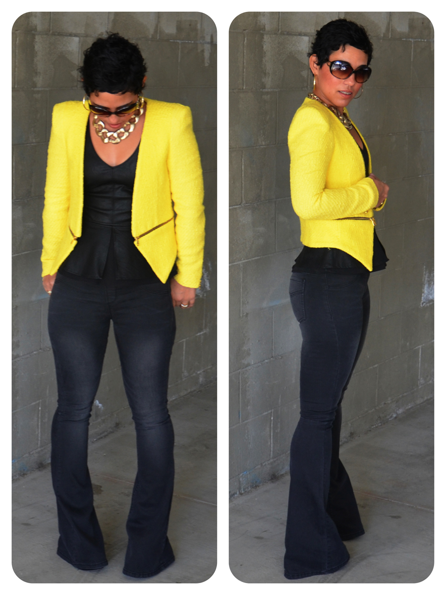 Leather jacket yellow zara - Yellow Blazer Jacket