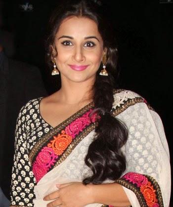 Vidhya balan bollywood actress in white saree wallpaper
