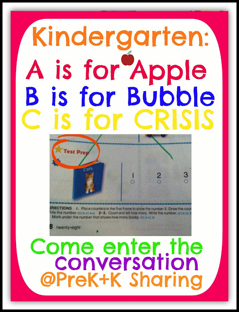 Kindergarten ABC's: Apples, Bubbles, Crisis ~~ The Conversation at PreK+K Sharing