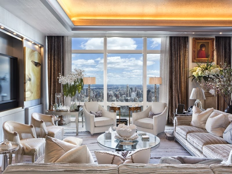 75 million dollar nyc penthouse see this house for Living room nyc