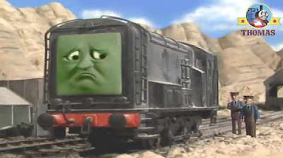 Boulder mountain pit ghostly quarry location Thomas the tank engine friend diesel green as tree leaf