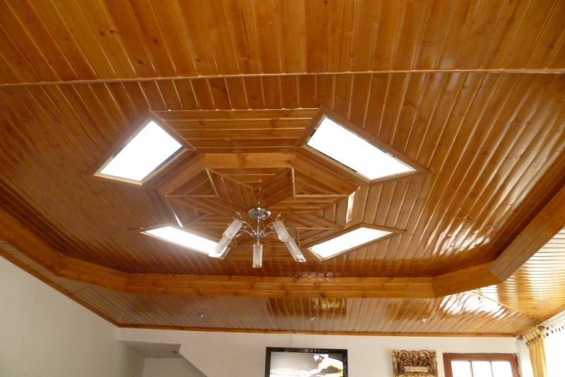 Machimbres del llano pvc cielo rasos cielorrasos de madera for Modelos de cielo raso para salas