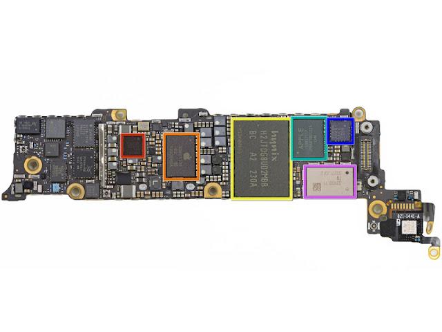 Apple-Teardown-A6-NAND-A6-DRAM-chips