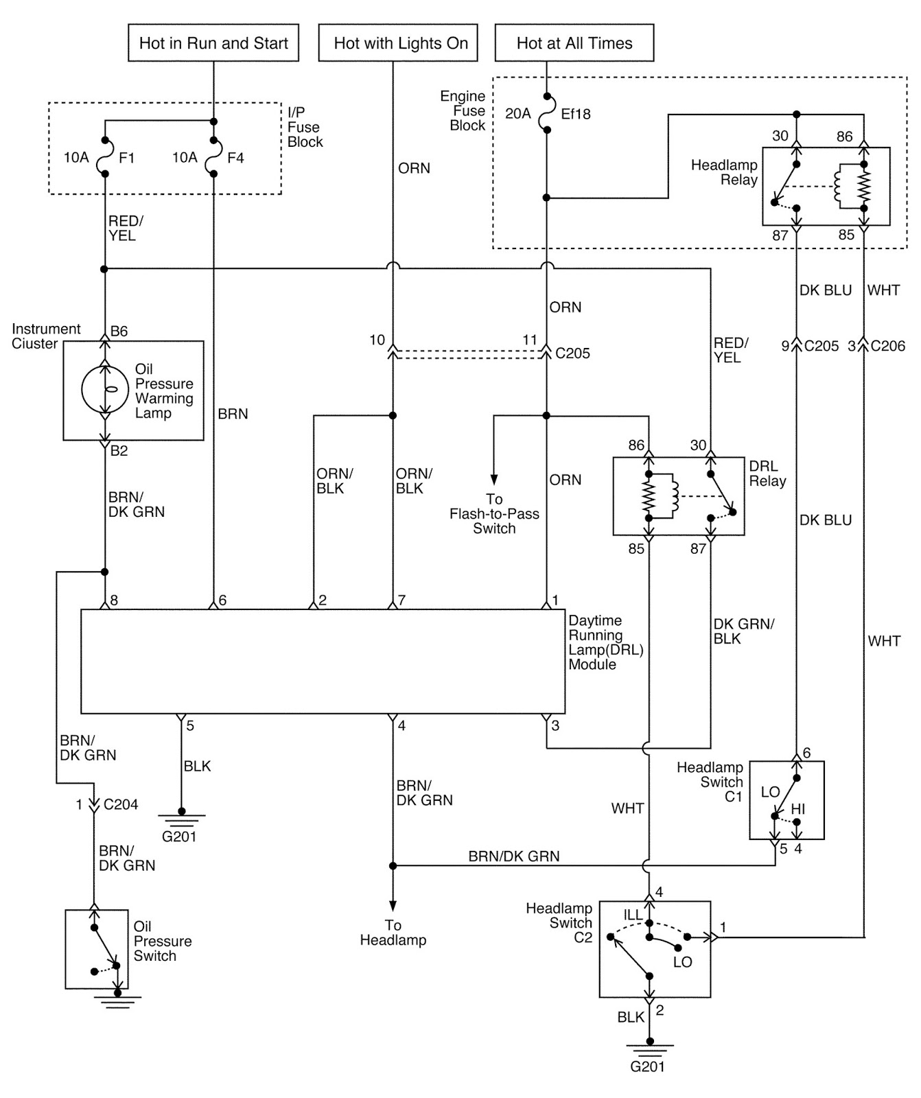 Daewoo Matiz Car Lighting Systems Schematic And Routing Diagrams Tico Wiring Diagram Click On Circuits To Enlarge