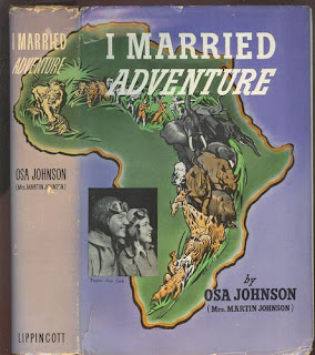 Dust Jacket Dust Cover I Married Adventure Blue Vintage Book